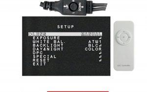 منوی OSD در دوربین مدار بسته